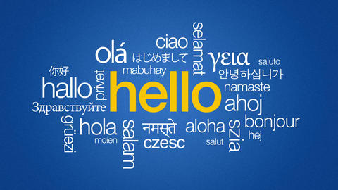 Hello in different languages Animation