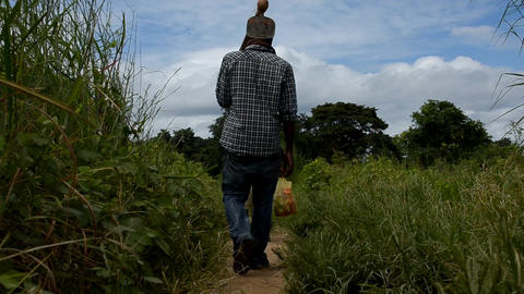 African farmers Stock Video Footage