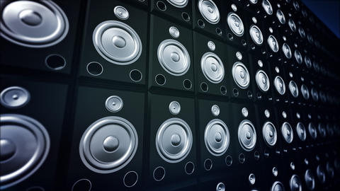 Speaker Wall Stock Video Footage