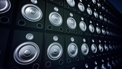 Speaker Wall Stock Video Footage
