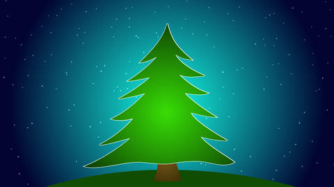 Merry Christmas Tree Stock Video Footage
