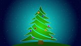 Merry Christmas Tree stock footage