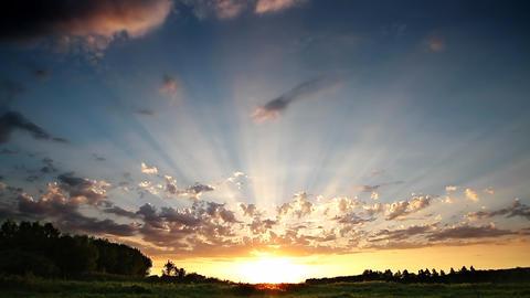 Sunset rays Stock Video Footage