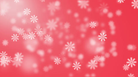 Snow on red background Stock Video Footage