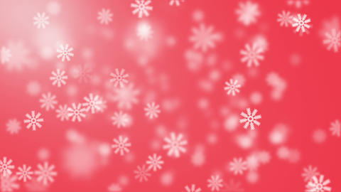 Snow on red background Animation