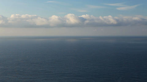 Cloudy sky over the sea (Time Lapse) Stock Video Footage