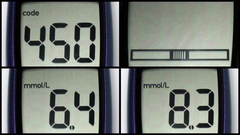 Set: Glucometer LCD Stock Video Footage