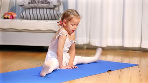 Ballerina. Little ballet children dancer Footage