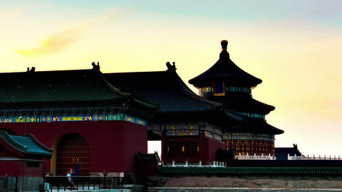 Temple of Heaven, Beijing, China. Timelapse Stock Video Footage