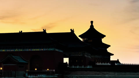 Temple of Heaven, Beijing, China. Timelapse Footage