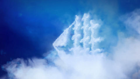 Ship Sailing In Heaven. stock footage