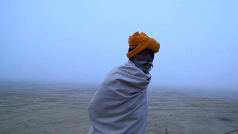Old Man in Desert Footage