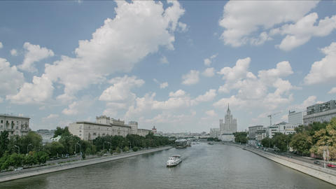 moscow river timelapse Footage