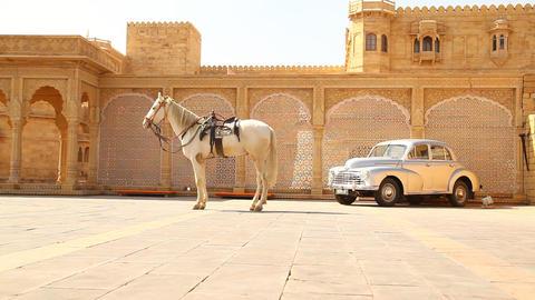 vintage fort in Rajasthan India Live Action