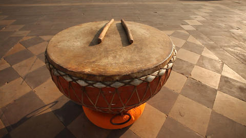 Antic Music Instrument Drum Live Action