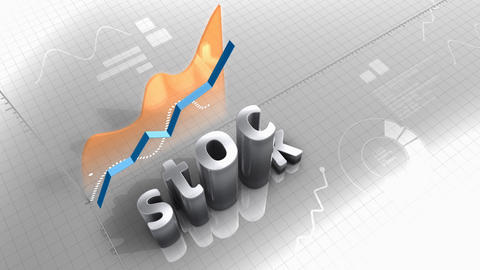 Growing chart Stock value, statistic, data, performance Animation