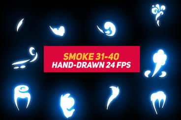 Liquid Elements Smoke 31-40 After Effects Template