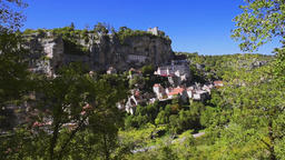Rocamadour, Midi-Pyrenees, France Footage