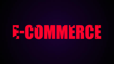 E-commerce text. Liquid animation background Live Action