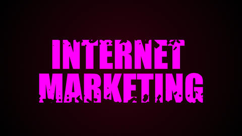 Internet Marketing text. Liquid animation background 影片素材