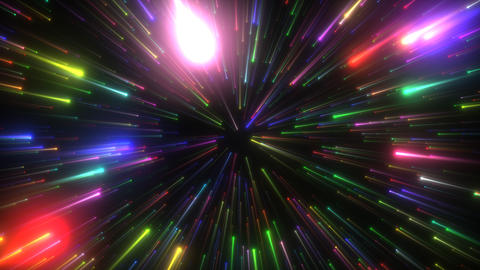 VJ Space Light Particles CG動画素材