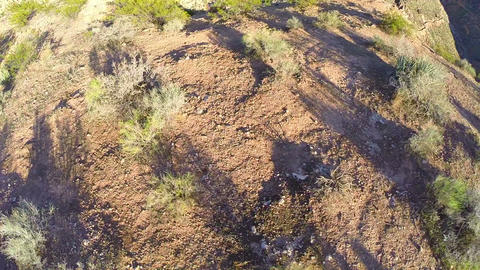 Canyon aerial flyover straight down Live Action