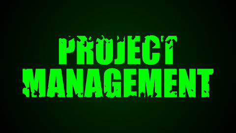 Project Management text. Liquid animation background Live Action