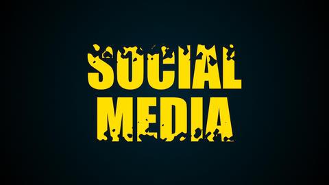 Social media text. Liquid animation background Footage