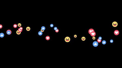 Facebook Live Reactions -LIKE-LOVE-HAHA GIF