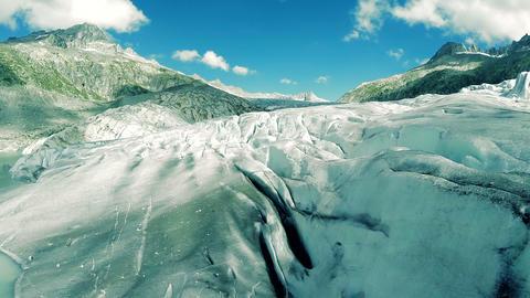 Flying over ice glacier global warming symbol climate change background Footage