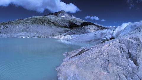 Flying over epic glacier panoramic landscape scenery melting glaciers ice Footage