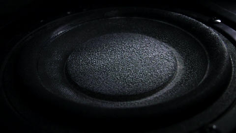 Bass loud speaker throws dust in the air. Super slow… Stock Video Footage