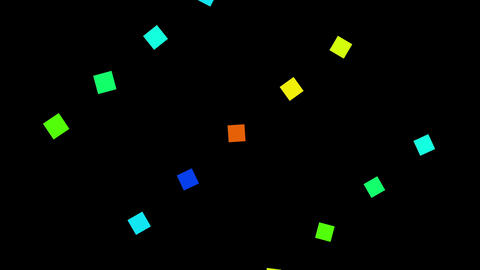 Colorful rectangular rotation animation影片素材