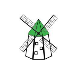 Windmill emblem Vector