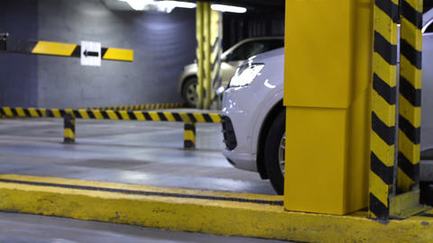 Departure from underground parking Footage