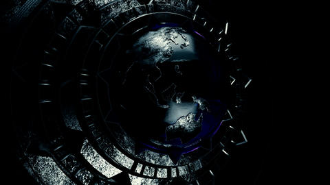 Steampunk globe V2 CG動画素材