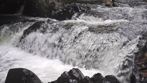 Tropical waterfall, slow motion video Footage