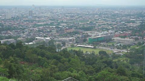 Pan shot of Thai city Songkhla Footage