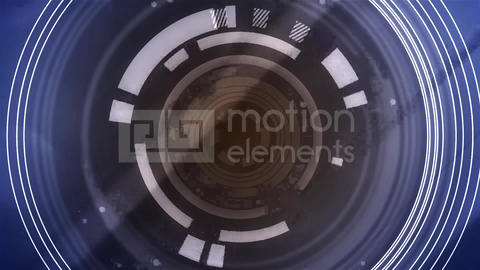 Digital Circle Background 01 Animation