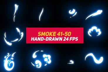 Liquid Elements Smoke 41-50 After Effects Template