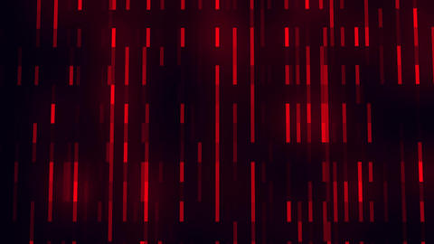 Red Glowing Digital Neon Lines VJ Loop Motion Background, Stock Animation