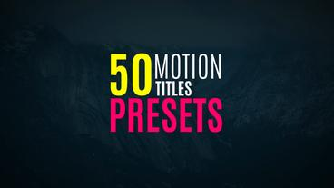 Presets and Titles Premiere Pro Template