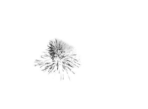 Black mask of a firework Footage