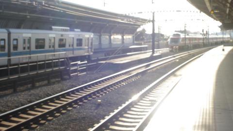 電車、線路、train ビデオ