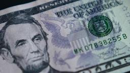 4K United States Five Dollar Bill Footage