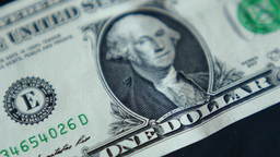 4K United States One Dollar Bill Footage