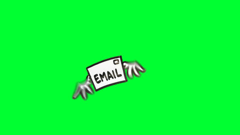 Email with wings Stock Video Footage