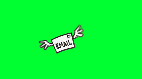 Email with wings Animation