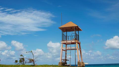 Phuket Beach Rescue Tower Footage