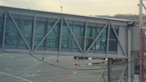 Airport jetway terminal Footage